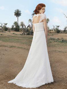 Robe de mariée Fabienne Alagama Adèle dos nu et dentelle T38 - Oise