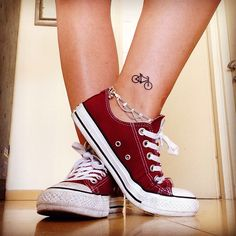 My new tiny bicycle tattoo #smalltattoo #bicycle #ankle #tattooidea