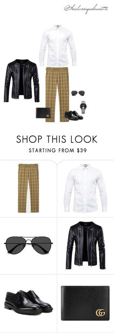 """@theclassiquebrunette"" by sara-rodriguez-arias ❤ liked on Polyvore featuring Paul Smith, Ted Baker, EyeBuyDirect.com, Lanvin, Gucci, Raymond Weil, men's fashion and menswear"