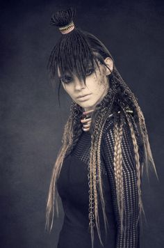 Hair by Paul Davey (Davey Davey) Dublin Ireland. Photo by David and Ronnie Norton @DNDesign #hair #tribal #daveydave