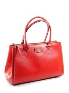 Sophistication, Luxury & Style - Guaranteed. Kate Spade Womens Wellesley Martine Red Purse