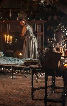 Geillis Duncan's apothecary. | Outlander S1E3 'The Way Out' on Starz
