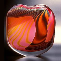 Peter Layton makes the most wonderful cased glass pieces. This vase reminds me of the ripples of Saharan sand.