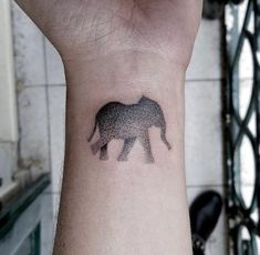 Image result for elephant dot tattoo