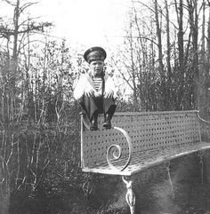 A 5-year old Alexey in Tsarskoye Selo, St Petersburg. This picture was taken by his father Nikolay II