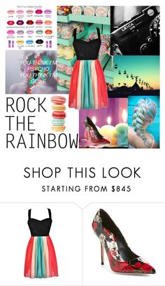 """""""Color, Kiss Me"""" by transparentart ❤ liked on Polyvore featuring Dolce&Gabbana, women's clothing, women, female, woman, misses and juniors"""