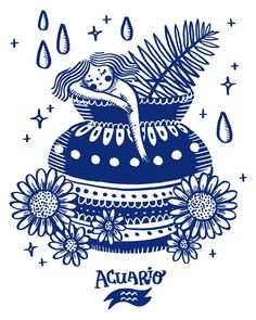 Zodíaco – Solo Show – Elisandra Illustration, Maps, Design & Pattern – Zodíaco… – aquarius constellation tattoo Aquarius Art, Aquarius Constellation Tattoo, Age Of Aquarius, Aquarius Zodiac, Zodiac Art, Zodiac Signs, Horoscope Tattoos, Art Therapy Activities, Zodiac Constellations