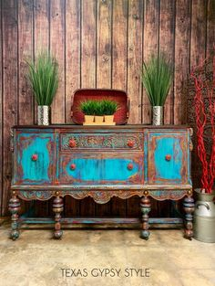 Southwest Boho Style Buffet, Sideboard, TV Console, Entryway Furniture, Sofa Table - Paint everything - Bar Furniture For Sale, Entryway Furniture, Ikea Furniture, Paint Furniture, Furniture Plans, Rustic Furniture, Furniture Makeover, Modern Furniture, Furniture Design