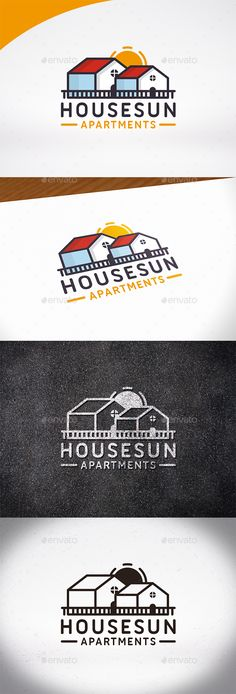 House Sun Logo Template by BossTwinsMusic - Three color version: color, greyscale and single color.- The logo is 100% resizable.- You can change text and colors very easy u