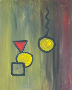 "Abstract Acrylic on Canvas (30"" x 24"") **"