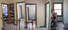painting interior trim and doors | We're painting all of ours. Here's a blog post I did showing our ...