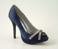 Navy and silver wedding shoes                                                      I think I found my shoes for my bff's wedding!!! :)