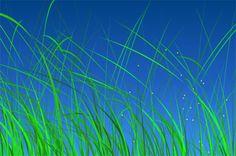 http://cssdeck.com/labs/4ksohwya - de l'herbe et des lucioles qui se balancent dans le vent