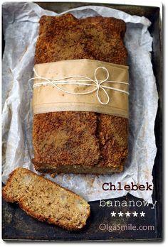 Cglebek bananowy bezglutenowy A Food, Food And Drink, Bread Baking, Banana Bread, Food Photography, Gluten Free, Cooking Recipes, Eat, Breakfast
