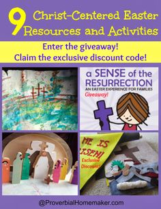 Proverbial Homemaker: 9 Christ-Centered Easter Resources and Activities (With Discounts and a Giveaway!)