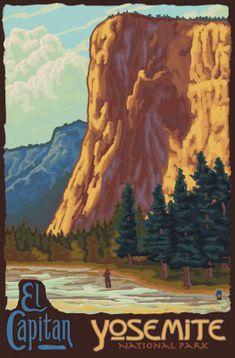 yosemite national park vintage poster - Google Search