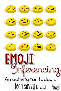 Emojis are everywhere these days, from your text messages to commercials. Why not make therapy a bit more functional for our tech savvy students, which is a lot of our students, by using this interesting little images to work on inferencing?