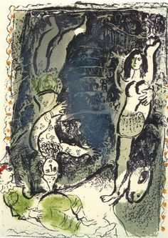 Acrobates, 1961, Marc Chagall Medium: lithography on paper