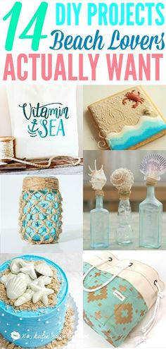 How to make DIY projects that beach lovers will love. I love how easy it is to enjoy the beach with these crafts. Make beach theme DIY home decor like … Beach Themed Crafts, Ocean Crafts, Seashell Crafts, Beach Crafts, Home Crafts, Diy Crafts, Seashell Art, Nature Crafts, Preschool Crafts