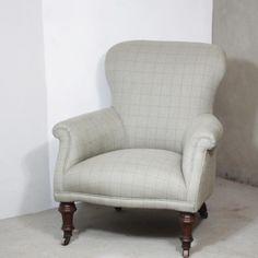 Elegant checked armchair
