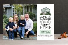 Happy Home and Holidays Holiday Photo Cards by Shiny Penny Studio at minted.com