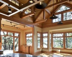 Living Room Tudor Timber Design, Pictures, Remodel, Decor and Ideas - page 4 Love the view.