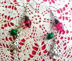 Christmas Tree and ligh Bulb Earings by angelsandcrafts on Etsy, $5.50