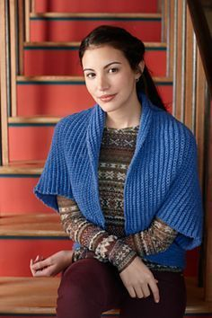 I like the vertical lines on this #crochet shrug/bolero. Free pattern at Lion Brand.