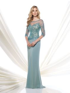 Montage by Mon Cheri #115963 in Light Turquoise