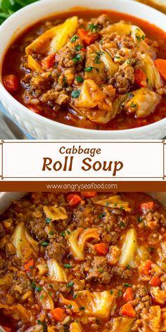Cabbage Roll Soup This cabbage roll soup has all of the equal flavors as conventional baked cabbage rolls, but with way less work! This unstuffed cabbage soup is hearty, filling and the appropriate preference for an clean dinner option. Cabbage Soup Recipes, Easy Soup Recipes, Delicious Dinner Recipes, Side Dish Recipes, Cooking Recipes, Oven Recipes, Crockpot Cabbage Roll Soup, Unstuffed Cabbage Roll Soup, Cabage Roll Soup