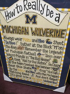 How to Be a Wolverine, we love it! #GoBlue