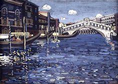 Wassily Kandinsky, Venice 4 1903 on ArtStack #wassily-kandinsky-vasilii-vasil-ievich-kandinskii #art