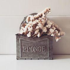 No pude llevarme sólo un recipiente EPONGE de @creixellandco... Uno de ellos está en #eltallerdeltf y es nuestro organizador de sobres kraft. El otro, acompañado de estatice blanco, luce así en la cocina de casa. ¡Me encantan! #ltfloves #vintagestyle #creixellandco #decodetails #estatice #driedflowers