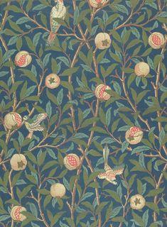 'Bird and anemone' textile design - Tìm với Google