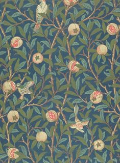 'Bird and anemone' textile design - Tìm với Google