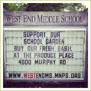 Sell the fruits of our labor, from the school garden to the farmer's market!