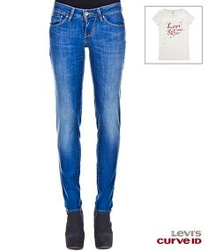 Bold Curve Skinny Real Blue - #Levis