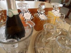 Champagne Bar and New Year's Brunch party with grocery list, time line, and free printable decorations