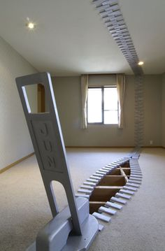 This year at the Rokko Meets Art Festival in Japan, Jun Kitagawa presented a series of zippers in various public spaces. Across the ceiling, sides, and floor of a room. Art Sculpture, Artistic Installation, Interactive Art, Public Art, Public Spaces, Environmental Design, Japanese Artists, Furniture Styles, Land Art