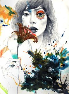 Mixed Media Illustrations by Minjae Lee | Cuded