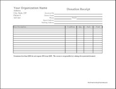Donation Form Templates Magnificent Custom Cash Receipt  Pinterest