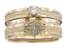 Harley-Davidson® Womens Wedding Yellow Gold 10K Diamond Ring RW712610D Size:9 in Joyería y relojes, Compromiso y boda, Anillos de compromiso | eBay