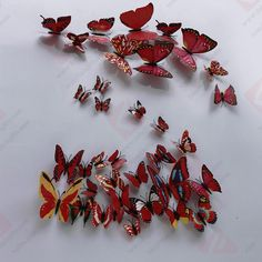 Get Orange Red Butterfly Stickers Crafts Butterflies for Room Decorations Art Decor Wall Stickers Refrigerator -- Check out the image by visiting the link. 40th Birthday, Birthday Ideas, Art Decor, Decor Ideas, Christmas Decorations, Room Decorations, Craft Gifts, Wall Stickers, Butterfly