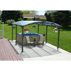 Carport With Polycarbonate Roof 701592   The Home Depot
