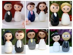 Personalized custom wedding cake topper kokeshi by Chikipita