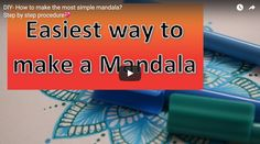 Mandala Monday – DIY- How to make the most simple mandala? Step by step procedure by Craftrove