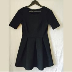 Zara Zara Mini Black Skater Dress Zara Dresses Mini