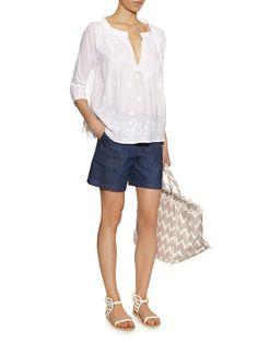 Hand-embroidered cotton shirt | Juliet Dunn | MATCHESFASHION.COM US