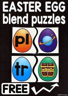 Easter Egg Blend Puzzles - Simply Kinder