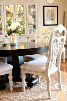 Today I'm sharing step by step instructions on how to spray paint dining chairs. If you've ever painted a chair, you know how long it takes! You're going to love this.